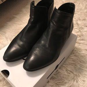 ALDO Leather Black Booties